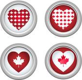 Canada Buttons3 — Stock Vector