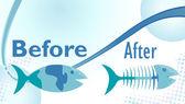 Dieta pesce — Vettoriale Stock