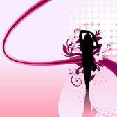 девушка swirl — Cтоковый вектор