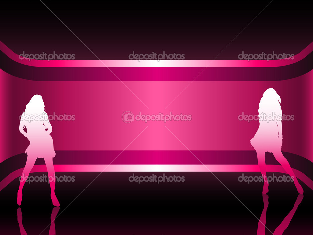 Sexy fashion girl in beautiful and colorful background. Editable Vector Image  Stock Vector #1988052