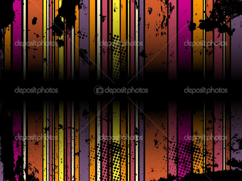 Abstract Grunge Stripe Background in several colors. Vector Image. — Stock Vector #1988909