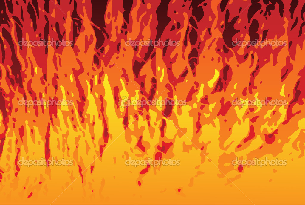 Abstract Flames Texture Background. Editable Vector Image — Stock Vector #1989715