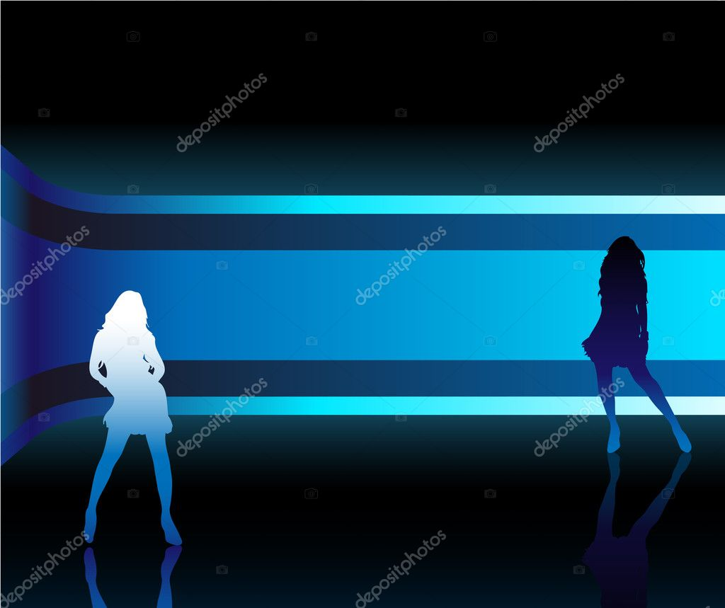 Sexy fashion girl in beautiful and colorful catwalk — Imagen vectorial #1989794