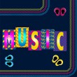 Royalty-Free Stock Vector Image: Neon Music
