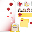 Royalty-Free Stock 矢量图片: Set for Nurse Day Celebration Day