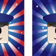 Policeman Background — Stock Vector