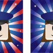 Royalty-Free Stock Vector Image: Policewoman Background