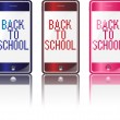 Phone Back to School — Stock Vector