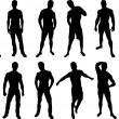 Royalty-Free Stock Vector Image: Men Silhouettes
