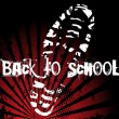 Back to School Shoe — Imagen vectorial