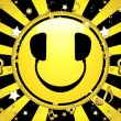 Smiley DJ Party Background — Imagen vectorial