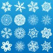Royalty-Free Stock Vektorfiler: Set of 16 snowflakes