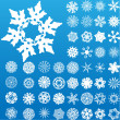 Royalty-Free Stock Vector Image: Set of 49 highly detailed snowflakes.