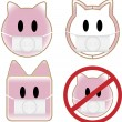 Vector de stock : Swine Flu Pigs