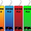 Swine Flu Banners — Stock Vector #1991139