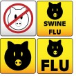 Vector de stock : Swine Flu Sign