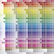 Color Palette Tiled Background - Stockvektor