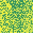 Yellow and Green Seamless Mosaic. — Stock vektor