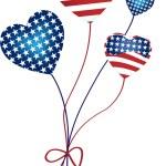 American Hearts Balloons — Stock Vector #1991290