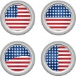 USA Buttons — Stockvectorbeeld