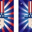 Stock Vector: Uncle Sam Background
