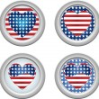 USA Buttons Heart — Stock Vector #1991321