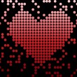 Digital Love Valentine&#039;s day heart - Stock Vector