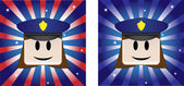 Policewoman Background — Stock Vector
