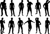 Men Silhouettes — Stock Vector