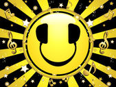 Smiley DJ Party Background — Vetor de Stock