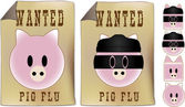 Swine Flu Wanted Sign — Stock Vector