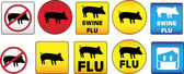 Swine Flu Signs — Stock Vector