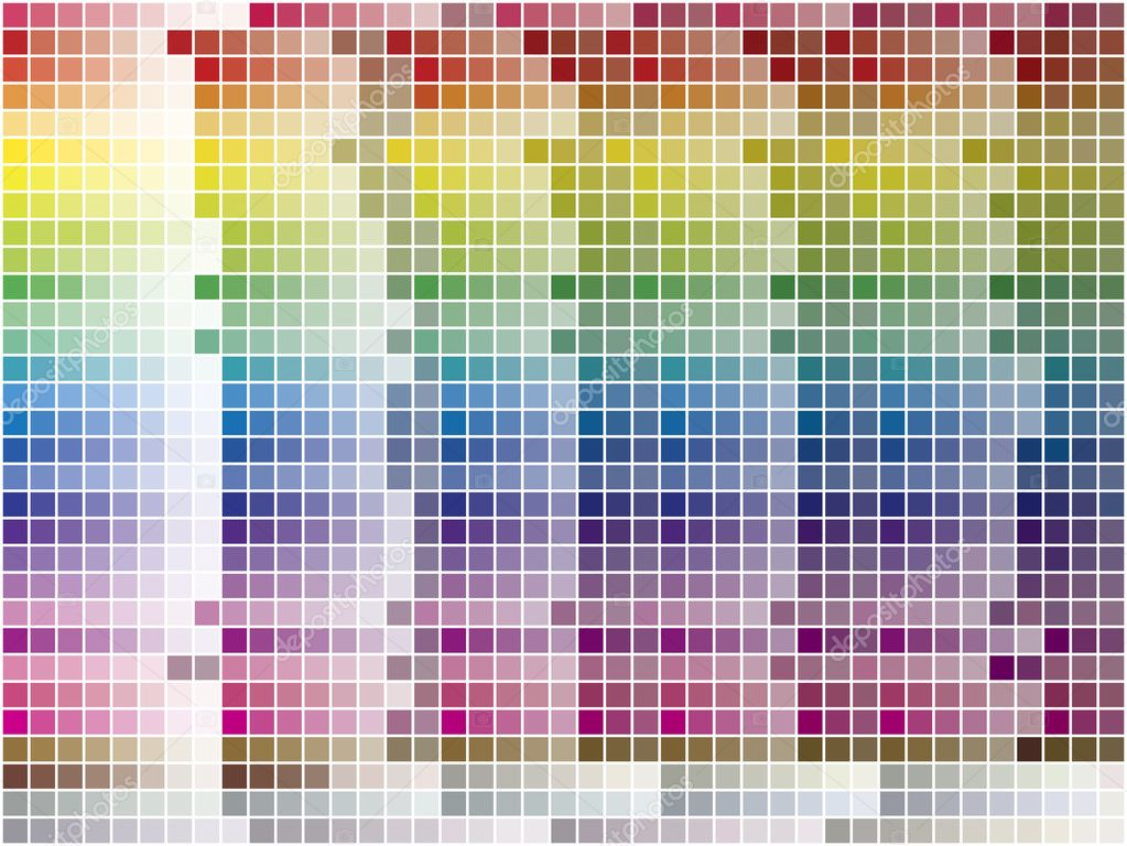 Color palette tiled background. Vector Image. 1200 different colors. — Stock Vector #1991226