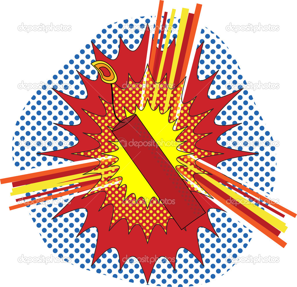 TNT Dynamate in a pop art cartoon explosive style  Image vectorielle #1991259