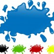 Several colors ink splash. — Stock Vector