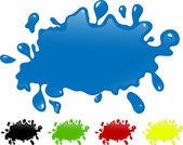 çeşitli renk mürekkep splash. — Stok Vektör