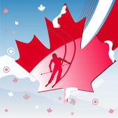 Canadá jogos de inverno de vancouver 2010 — Vetorial Stock