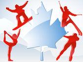 Canada jeux d'hiver de vancouver 2010. — Vecteur