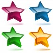 Royalty-Free Stock Vectorielle: Set of four 3D shiny stars.