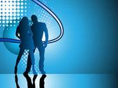 Sexy couple silhouette — Stock Vector