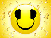 Smiley DJ Background — Vetor de Stock