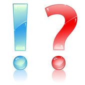 Marcas de exclamação e interrogação. — Vetorial Stock