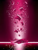 Pink 3D Stars Background. — Stock Vector