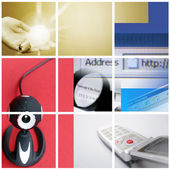 Colorful communication collage. — Stock Photo