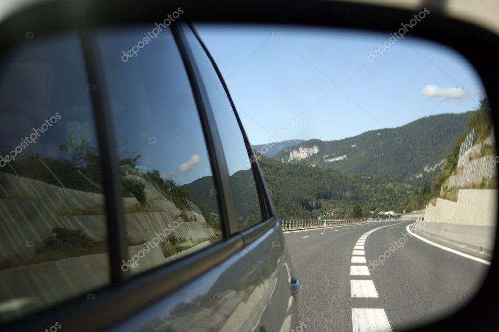 Car mirror reflection — Stock Photo © arosoft #1977226