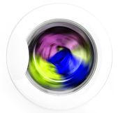 Kleding in wasserij — Stockfoto