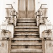 Foto Stock: Old entry in house. Sepia