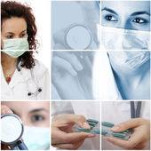 Medische collage. — Stockfoto