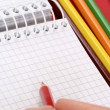 Pencil and agenda — Stock Photo #2309243