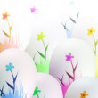 Falling easter eggs — Stock Photo #2467172